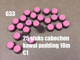 A17 25 stuks kawai pudding flatback cabochon