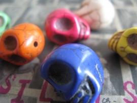 F41 Big Skull beads 25 stuks Dia de Los Muertes
