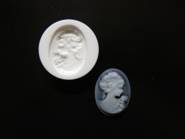 Sillicreations Mould | Cameo Lady 30mm