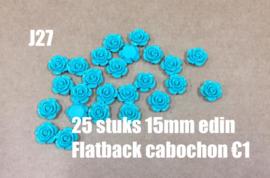 J27 25 stuks 15mm Edin flatback cabochon