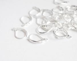K55 Lever Back Hoop earring | Silver 10 stuks