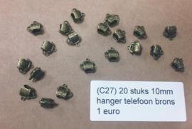 C27 20 stuks hanger phone brons