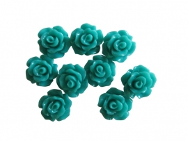Resin Cabochon - Sillis Flower 10mm Reva 10 pcs A44