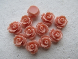 Resin cabochon | Adanna 10mm | LIGHT CORAL | 25 stuks C34/2