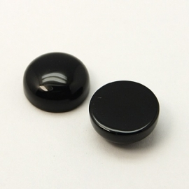 Gemstone Nature Cabochon 12mm | Black Agate