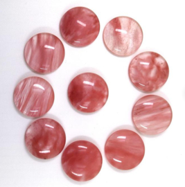 CHERRY QUARTZ | Gemstone Glass Cabochon 16mm A15/8