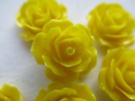 A22 Flatback cabochon resin rose | Roya YELLOW 19mm 20 stuks