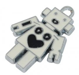 ROBOT | emaille hanger  3 stuks B25/2