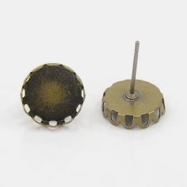 F31 Ear Stud setting Desiree Bronze- 10mm 5 paar (10 stuks)