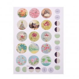 Sillis Scrapbook Stationery | Collage Sheet 20mm / 10mm L024|01