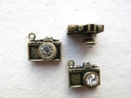 Camera *bling* hanger bronze | 2 stuks | C32/2