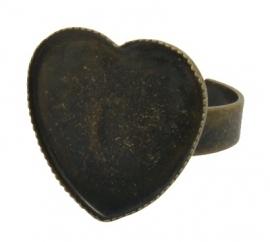 L60 Ring starter Heart | 17x18mm