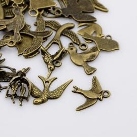Wholesale MIX | bronze BIRDS 25 pcs