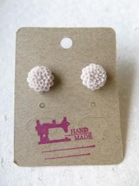 Miss Doris - home made earrings Chrissie FLAMINGO