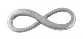 D26/2/2 INFINITY connector | silver 23mm | 25 stuks