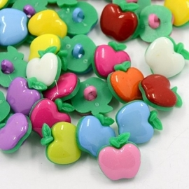 J21 Apple MIX buttons 18mm | 100 pcs
