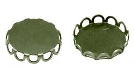A15/2 Cabochon setting - Lori 20mm brons 25 stuks