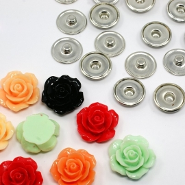 DIY #1 snap button chunk shank SET | 23mm MIX | 10 sets