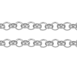 ROLO | Jasseron Ketting - circles 100 cm | zilver 3mm (M) B08