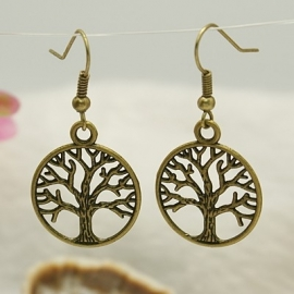 B18/2 Tree of life - bronze earrings