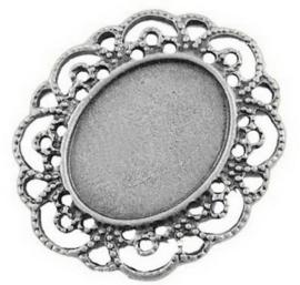 E16/4 Cabochon setting - Arianna Silver