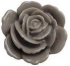 F04 Lola | resin flatback cabochon | 23mm | GREY 10 stuks