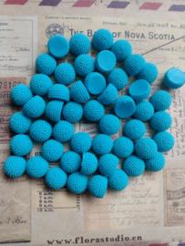 LIV   10mm resin cabochon   BLUE 50 stuks D02