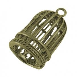 L98 Hanger brons vogel kooi birdcage