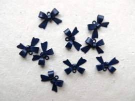 L47/5 Bowknot connector 15x10mm MIDNIGHT BLUE (10pc)