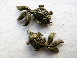 Goldfish / Koi | pendant 34x24mm Bronze A13/4