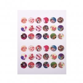 Sillis Scrapbook Stationery   Collage Sheet 12mm L030 01