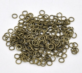 D27/2 Bronze jump rings | 6mm | 20 gram