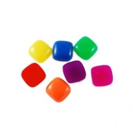 DOTS | Square resin cabochon | 14mm | MIX 100pcs