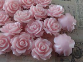 REZA | resin flower bead | 18mm | ROZE 25 stuks D10