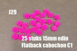 J29 25 stuks 15mm Edin flatback cabochon