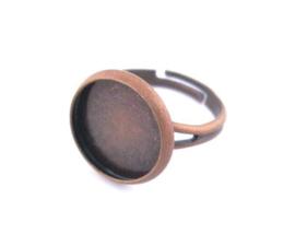 L24 Ring starter Jeanine - Copper blank bezel setting 16mm 4 stuks