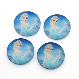 Glass Cabochon | FROZEN Elsa (1 stuk 25mm)