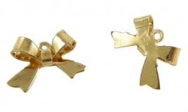 A13/2 Bowknot connector 15x10mm GOLD (10pcs)