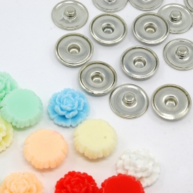 DIY #3 snap button chunk shank SET | 19mm MIX | 10 sets