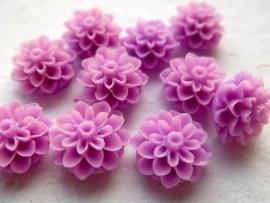 Flatback cabochon - Flower 16mm ORCHID 10pcs