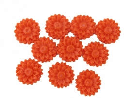 K20/2 JULIE | 14mm flower cabochon | ORANGE 30 stuks