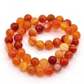 Beads | Natural AGATE beads round 10mm (38pcs)