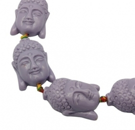 A08 Big Buddha Bead | 26x36mm | LILAC