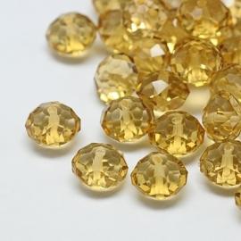 Resin Beads | Abacus | Light Colorado Topaz 10mm (10pcs)