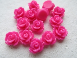 D45/2 Resin cabochon | Adanna 10mm | FUCHSIA | 30 pcs