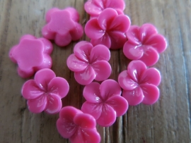 D50 Frangipani resin flower cabochon 11mm 30pcs FUCHSIA