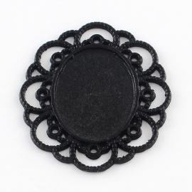 ARIANNA | Cabochon setting  Black (18x25) 10 stuks B14/1