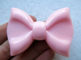 Big Bow | Decoden | Resin cabcohon | PINK 61x43mm
