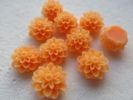 Flatback cabochon - Flower 16mm ORANGE 10pcs
