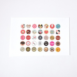 Sillis Scrapbook Stationery   Collage Sheet 12mm L032 01